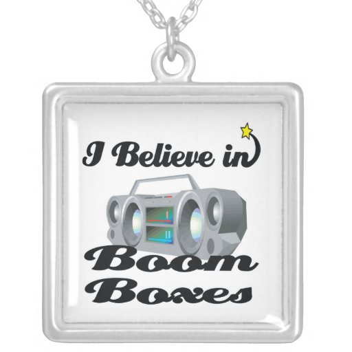 i believe in boom boxes pendant