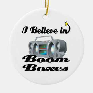 i believe in boom boxes Double-Sided ceramic round christmas ornament