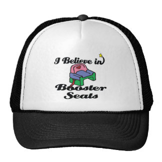 i believe in booster seats hat