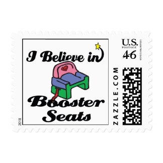 i believe in booster seats postage stamps
