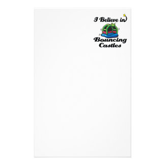 i believe in bouncing castles customized stationery