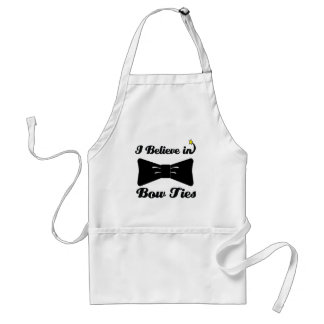i believe in bow ties adult apron