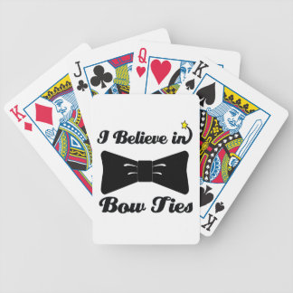 i believe in bow ties bicycle playing cards