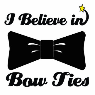 i believe in bow ties cutout
