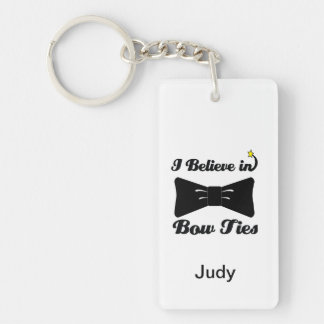 i believe in bow ties Double-Sided rectangular acrylic keychain