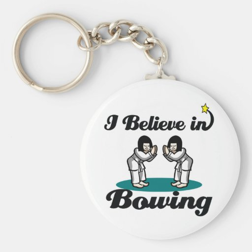 i believe in bowing keychains