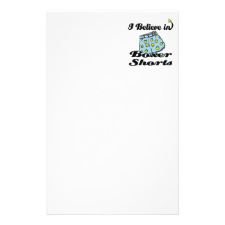 i believe in boxer shorts stationery design