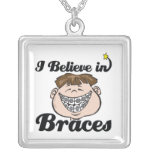 i believe in braces necklace