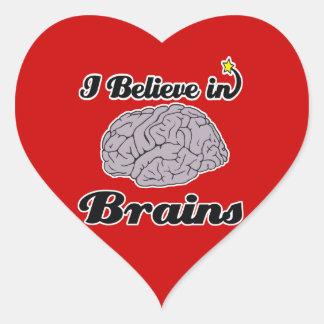 i believe in brains stickers