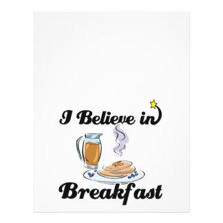 i believe in breakfast flyer