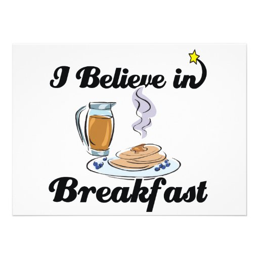 i believe in breakfast invitation