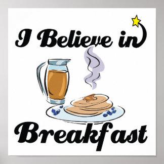 i believe in breakfast poster
