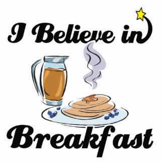 i believe in breakfast standing photo sculpture