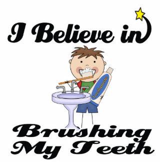 i believe in brushing my teeth boy photo cutouts
