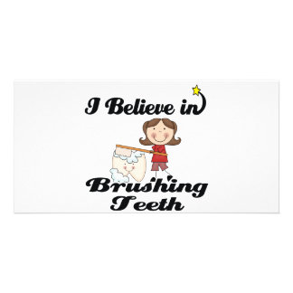 i believe in brushing teeth card