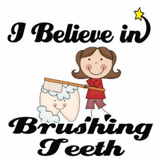 i believe in brushing teeth photo sculpture