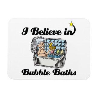 i believe in bubble baths flexible magnet