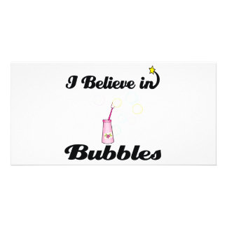 i believe in bubbles toy customized photo card