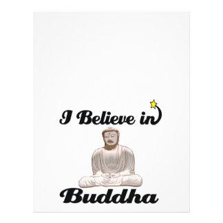 """i believe in buddha 8.5"""" x 11"""" flyer"""