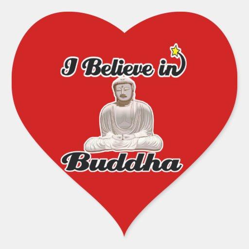 i believe in buddha heart sticker