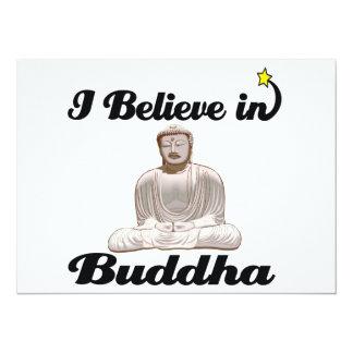 i believe in buddha 5.5x7.5 paper invitation card