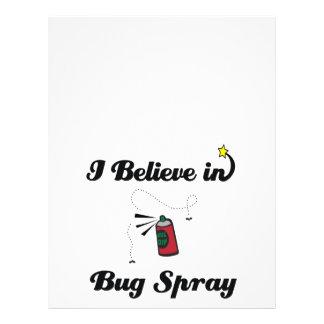 """i believe in bug spray 8.5"""" x 11"""" flyer"""