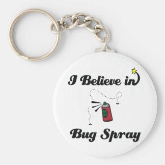 i believe in bug spray basic round button keychain