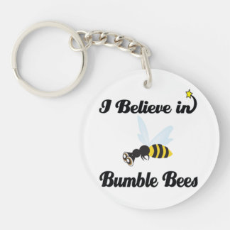 i believe in bumble bees keychain
