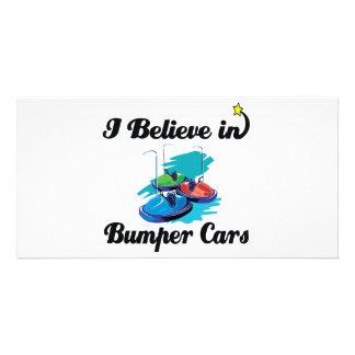 i believe in bumper cars photo card