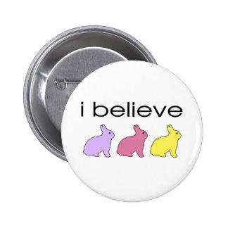 I believe in Bunnies 2 Inch Round Button