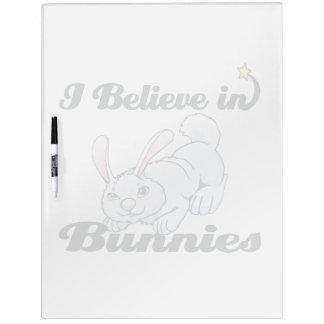 i believe in bunnies Dry-Erase board