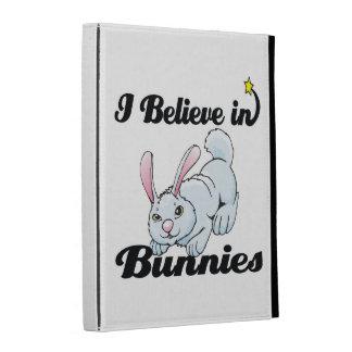 i believe in bunnies iPad folio cover