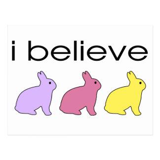 I believe in Bunnies Postcard