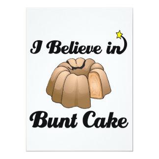 "i believe in bunt cake 6.5"" x 8.75"" invitation card"