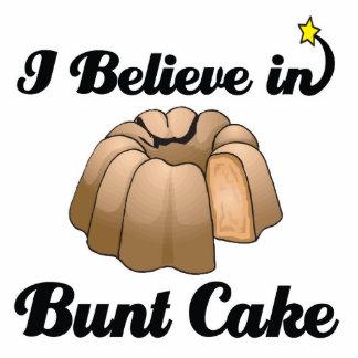 i believe in bunt cake standing photo sculpture