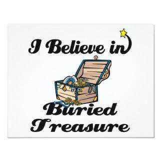 i believe in buried treasure 4.25x5.5 paper invitation card
