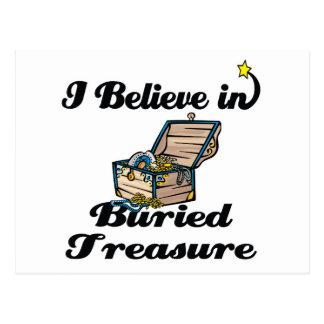 i believe in buried treasure postcard
