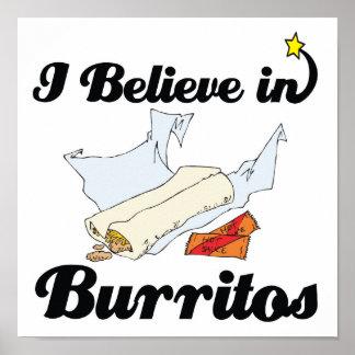 i believe in burritos poster