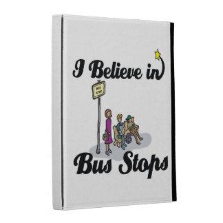 i believe in bus stops iPad folio cover
