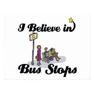 i believe in bus stops postcard