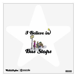 i believe in bus stops wall sticker