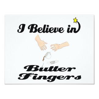 i believe in butter fingers 4.25x5.5 paper invitation card