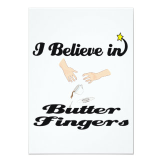 i believe in butter fingers personalized invites