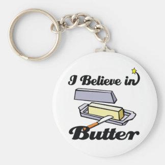 i believe in butter keychain