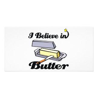 i believe in butter photo card