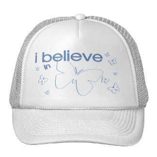I believe in Butterflies Mesh Hats