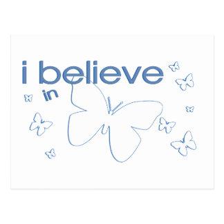 I believe in Butterflies Postcard