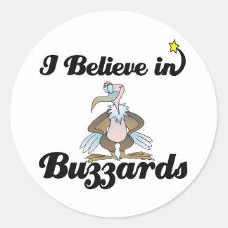 i believe in buzzards classic round sticker