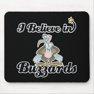 i believe in buzzards mouse pad