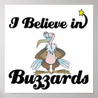 i believe in buzzards poster
